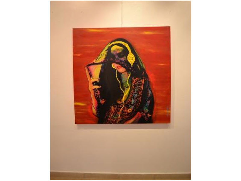 Figure 1. Hamad & Ali, Connect to Disconnect, 2011, oil on canvas. Exhibition at Dar al Funoon, Kuwait. Courtesy of Hamad & Ali Wordpress.