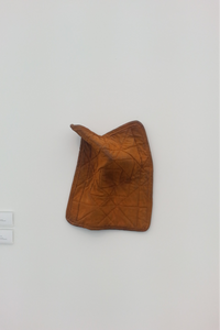 Gavin Kenyon, Untitled, 2015. Cast iron. 18 x 14.5 x 5 inches. Blum & Poe Gallery, Frieze New York 2015.