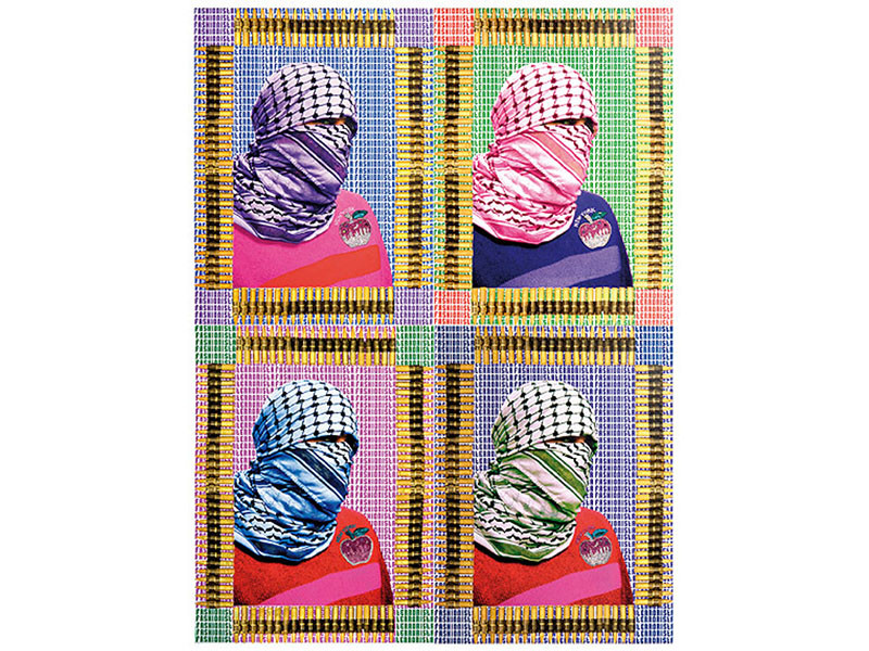Figure 10. Laila Shawa, Fashionista Terrorista (The Walls of Gaza III), 2011, photography and mixed media. Courtesy of October Gallery, London.