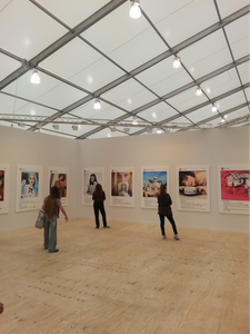 """Richard Prince, """"New Portraits"""", 2014. Installation view at Gagosian Gallery, Frieze New York 2015."""