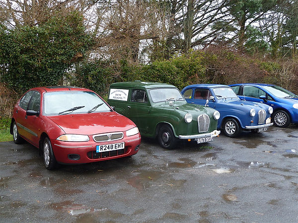 Two Austins and a Rover at Wareham Rugby