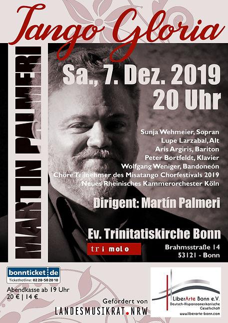 Plakat Tango Gloria Trinitatiskirche 201