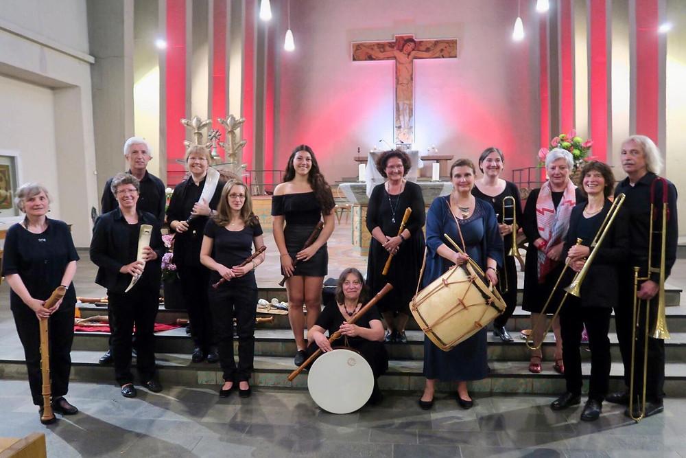 Ensemble Les Bouffons, Posaunenchor Aequalis und ich als Sängerin. Pur Renaissance!