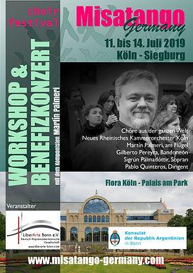 Flyer vom Rollup Misatango Choir Festiva