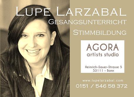 Gesangsunterricht Lupe Agora artists stu