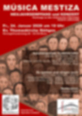 Plakat Musica Mestiza 2020 Thomaskirche