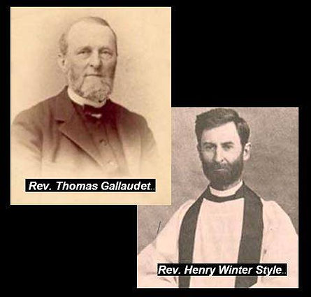 pictures of Gallaudet and Syle