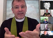Rev. Richard Mahaffy welcomes you with outreached hands