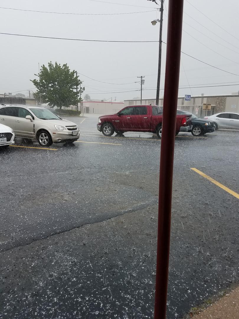 It Hailed!!!