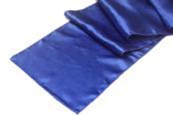 "RUNNER ROYAL BLUE SATIN TABLE 12""X108"""