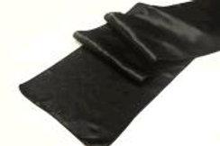 """RUNNER BLACK SATIN TABLE 12""""X108"""""""