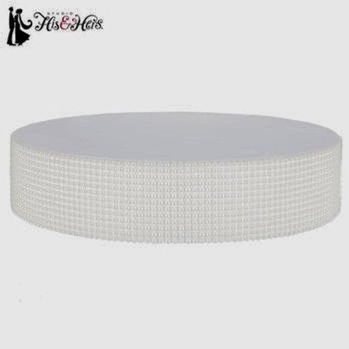 White Pearl Edge Cake Stand