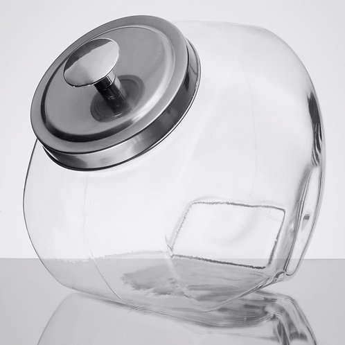 1 Gallon Candy Jar w/ Chrome Lid