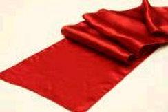 """RUNNER APPLE RED SATIN TABLE 12""""X108"""""""