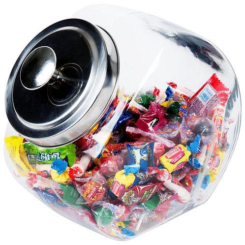 1/2 Gallon Candy Jar w/ Chrome Lid
