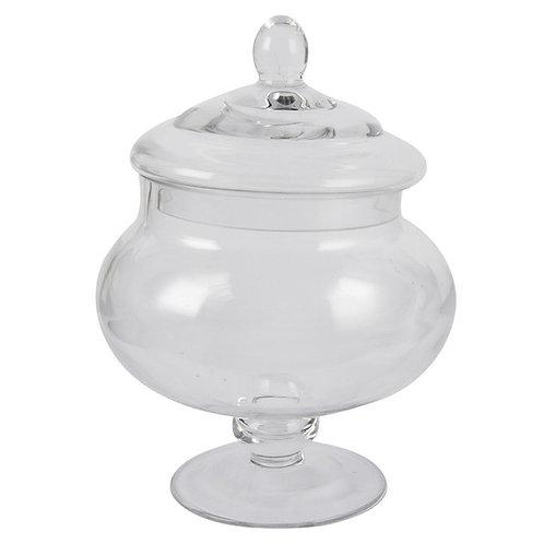 "9"" Glass Candy Jar"