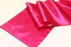 "RUNNER FUSCHIA HOT PINK SATIN 12""X108"""