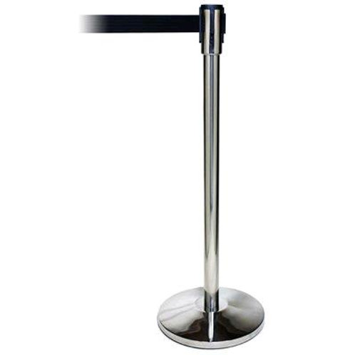 STANCHION, CHROME TENSION BLACK BELT