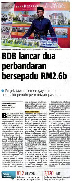 BDB Lancar Dua Perbandaran Bersepadu RM2.6b