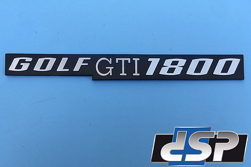""" Golf gti 1800 "" - Monogramme Mk1"