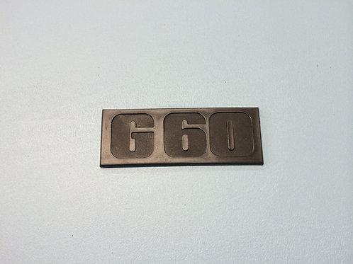 """"""" G60 """" - Monogramme arrière Mk2"""