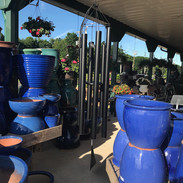 Giant Wind Chime & Glazed Planters