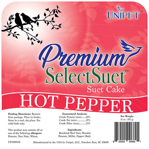 Premium Select Suet Hot Pepper