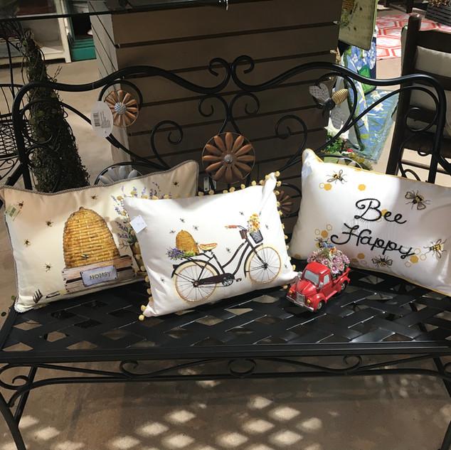 Bench & Bee Pillows