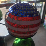 Mosaic Patriotic Garden Ball