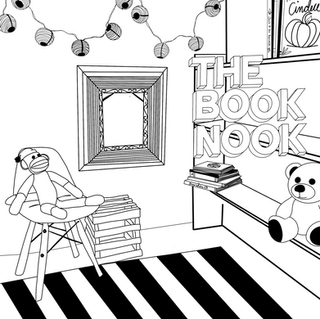 The Book Nook Coloring Page