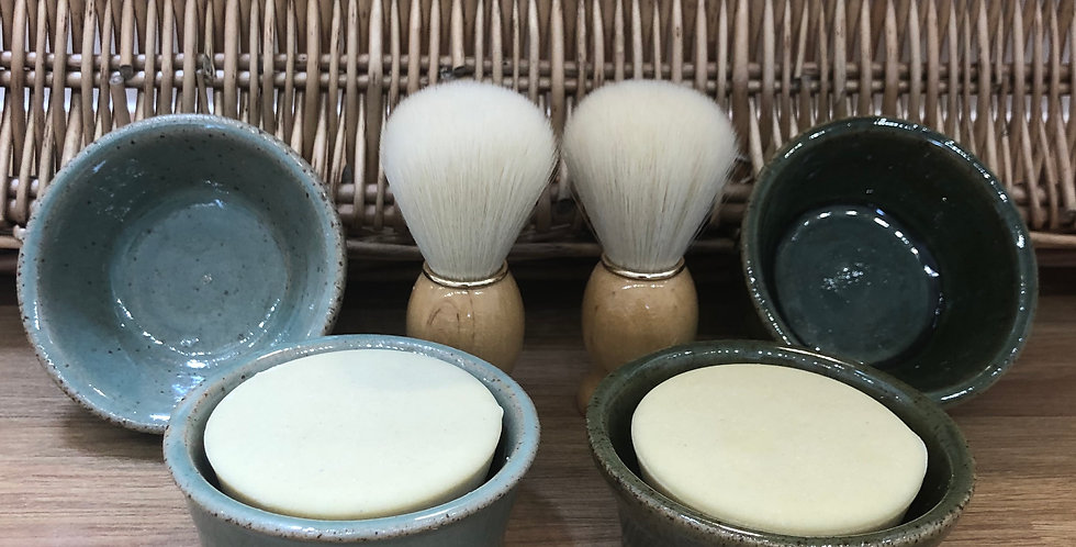 Large Round Shaving Soap & Optional Pot