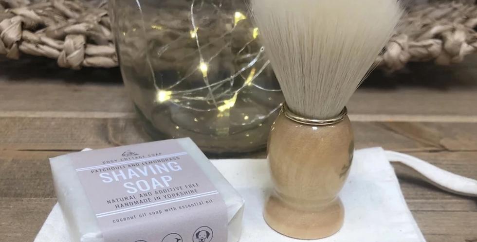 Beech Handled Shaving Brush