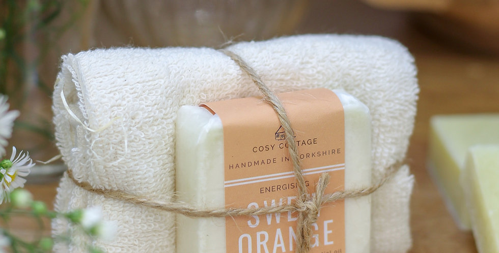 Soap and Cotton Cloth Gift Set