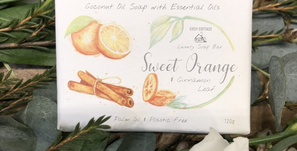 Cinnamon and Orange 120g Luxury Soap