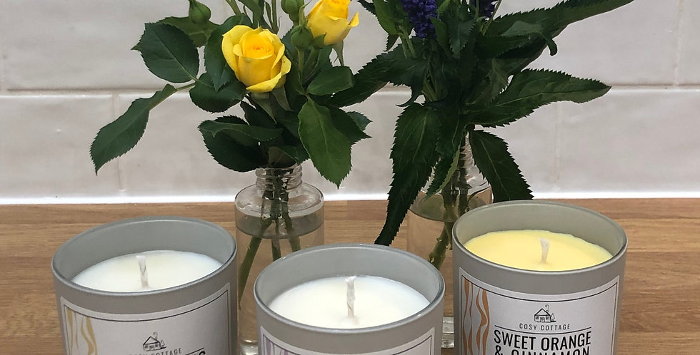 Large Soy Wax Candles In 3 Fragrances