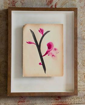 magnolias roses (branche noire)