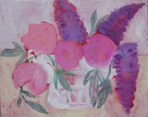 fleurs pivoines et lilas - 2978