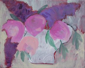 fleurs pivoines et lilas - 2984
