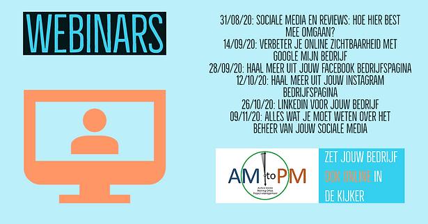 De webinars van AM-to-PM Belgium
