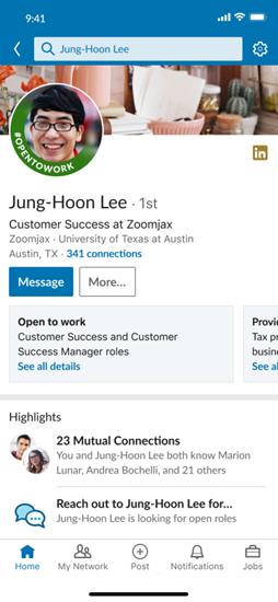 LinkedIn Open to Work Status