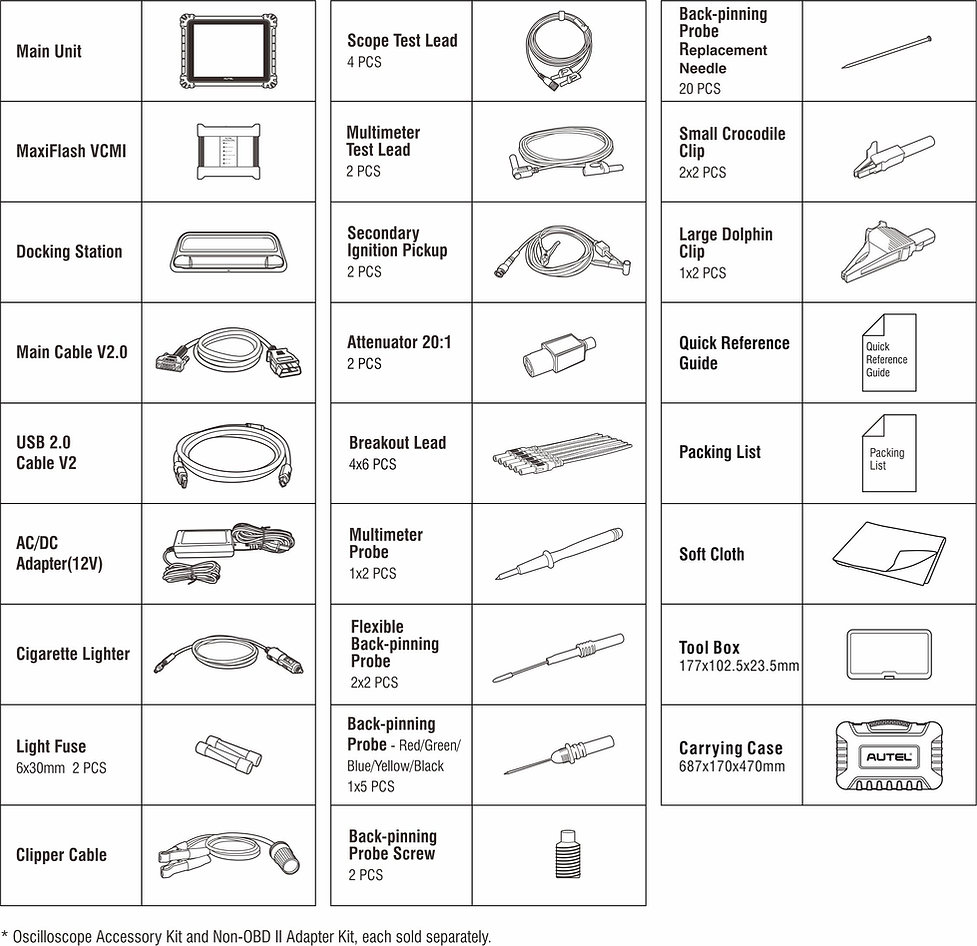 MaxiSys,autel,MSultra,accesoires,toebehoren,autel,ms919,maxisys,diagnoseapparatuur,programmeerapparatuur,uitleesapparatuur,kabel,adapter,multimeter,tablet,manual