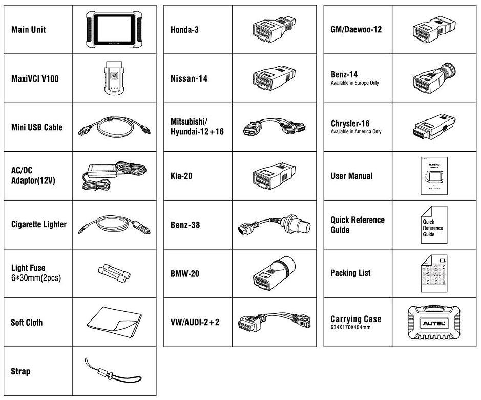 Autel,MaxiSys,MS906TS,TPMS,accesoires,toebehoren,autel,maxisys,diagnoseapparatuur,programmeerapparatuur,uitleesapparatuur,kabel,adapter,tablet,manual