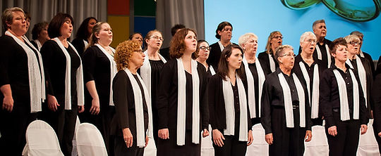 The Alto and Soprano section of the VOICES of Kentuckiana choir