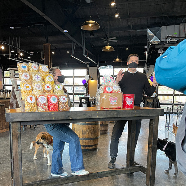 Froggy's Popcorn on WDRB in the Morning at the Grand Opening of PG&J's Dog Bar