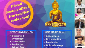 Mentorexam Diwali Festive offer on all Superspecialty courses!