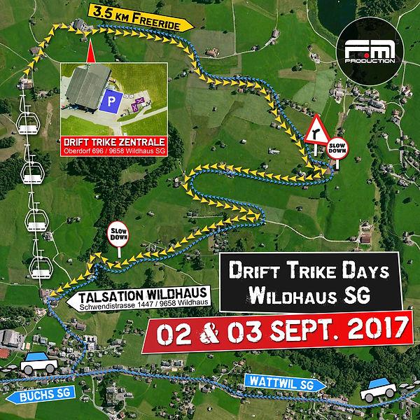 Drift Trike Days Wildhaus Lageplan Septe