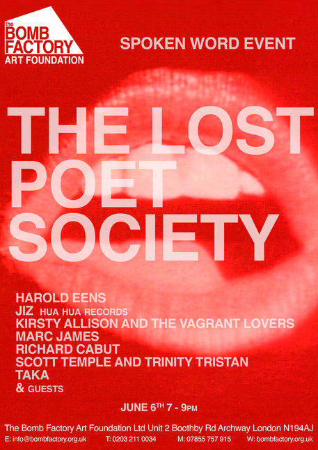 Spoken Word Event The Lost Poet Society