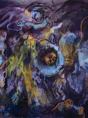 Andromeda and others, 225x280cm, Oil on canvas