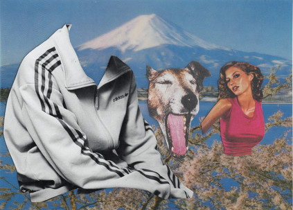 DOG BITE, 2020, POSTCARD COLLAGE