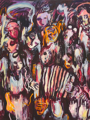 Village party, 240x200, oil on canvas, 2021